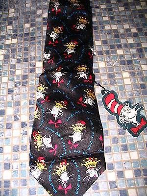 Dr Seuss Cat In The Hat King For A Day Silk Tie  Brand New Very Rare