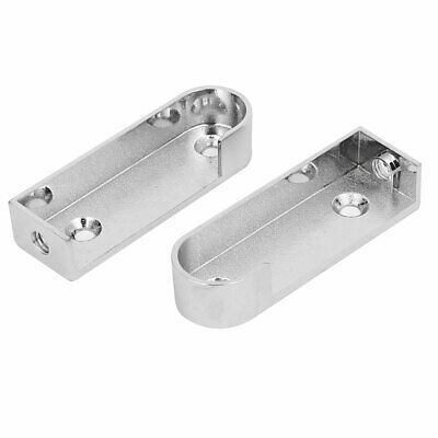 Wardrobe Metal Pipe Clothes Lever Bracket Support Silver Tone 16mm Dia Tube 2pcs