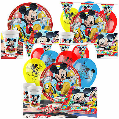 Mickey Mouse Complete Party Pack Tableware Kits - 8 or 16 Guests