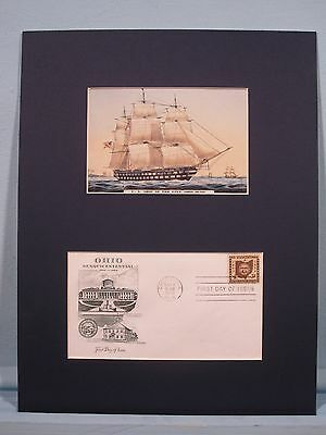 The USS Ohio & First Day Cover honoring the 150th Anniversary of Ohio Statehood