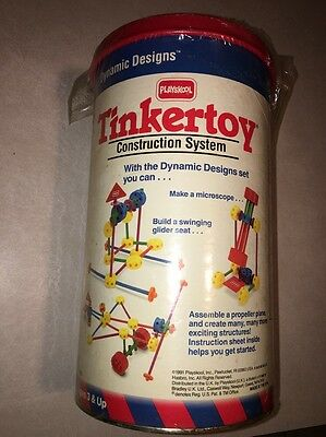 1991 Playskool Tinkertoy Construction System Plastic #802 Building Toy NEW