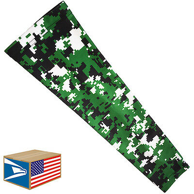 COMPRESSION ARM ELBOW SLEEVE Green Digital Camo SPORTS BRACE YS/YM/YL/S/M/L/XL