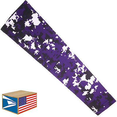 COMPRESSION ARM ELBOW SLEEVE Purple Digital Camo BASKETBALL YS/YM/YL/S/M/L/XL