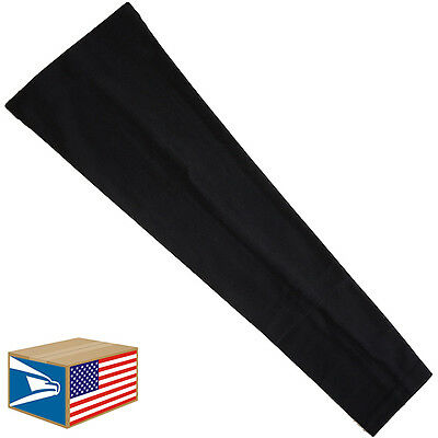 COMPRESSION ARM ELBOW SLEEVE Solid Black BASKETBALL BASEBALL YS/YM/YL/S/M/L/XL