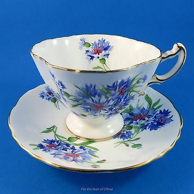 Gorgeous Blue Cornflower Hammersley Tea Cup and Saucer Set