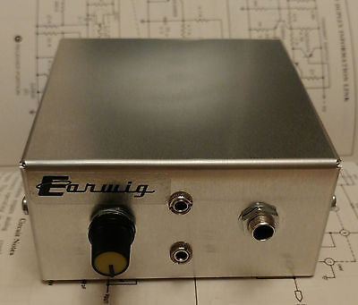 Earwig Headphone Amp for bass & guitar  (with AUX IN)