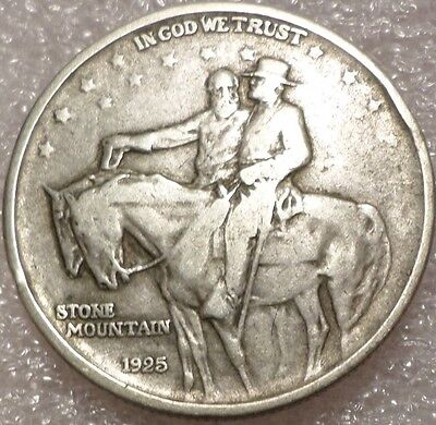 1925 50C Stone Mountain Silver Commemorative Half Dollar W/2 Little Rim dings