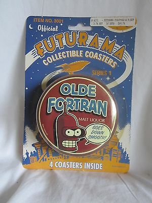 FUTURAMA COLLECTIBLE COASTERS OLDE FORTAN show sample, new and sealed (BH)