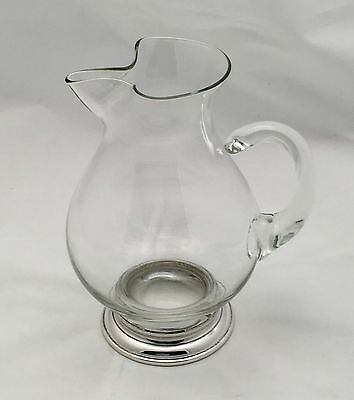 Web Sterling  Silver And Glass Pitcher