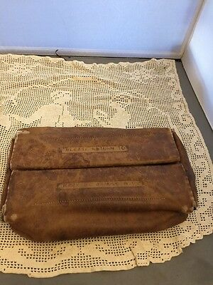 Vintage Leather Medical Doctor Bag With Contents