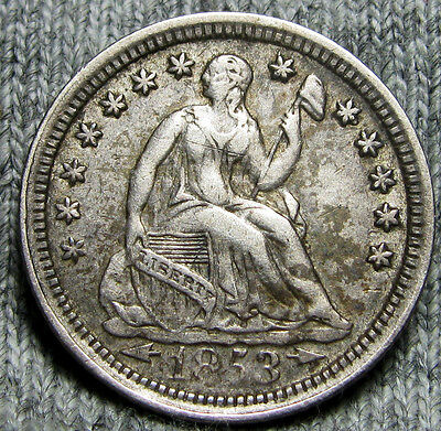 1853 Seated Liberty Half Dime -- TYPE COIN -- #O914