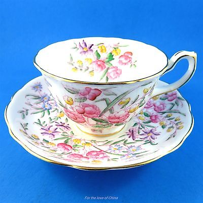 Handpainted Bridal Rose Hammersley Tea Cup and Saucer Set