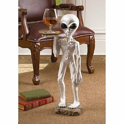 UFO Space Alien Sighting End Accent Table Roswell Crash Extraterrestrial Statue
