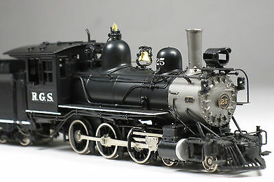 HOn3 Rio Grande Southern brass 4-6-0 steam locomotive factory painted RGS