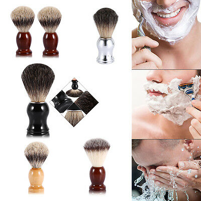 Fashionable Men's Shaving Brush Face Cleaning Tool Faux Badger / Nylon Hair WD
