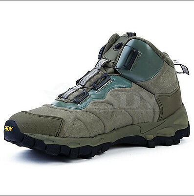 Men Military Tactical Shoes BOA Lace Up Army Tactical Combat Desert Hiking Shoes
