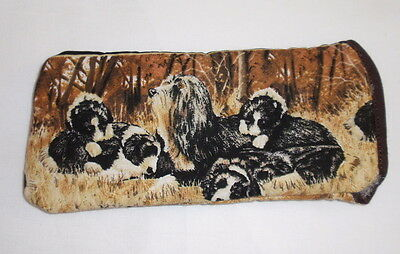 BN- BEARDED COLLIE GLASSES CASE - cotton- ideal small gift