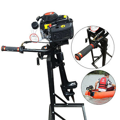 52cc 4-Stroke 2.8 KW/ 4HP Outboard Engine CDI Clutch Control Fishing Boat Motor