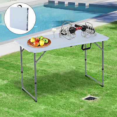 "Outsunny Folding Camping 47.2"" Picnic BBQ Party Table Outdoor Garden Adjustable"