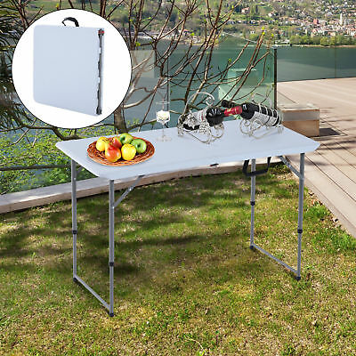 "Folding Camping 47.2"" Picnic BBQ Party Table Outdoor Garden w/ Adjustable Leg"