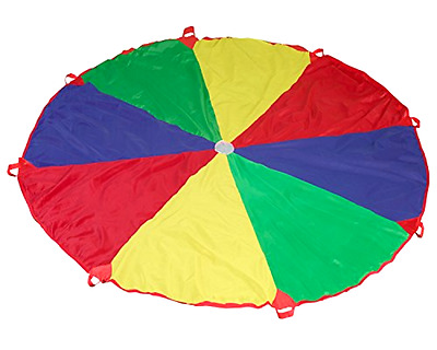 Parachute with 8 Handles Game SS Worldwide 12 Feet Cooperative Play for Kids