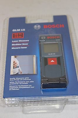 Bosch GLM 15 Laser Measure Tool Measuring Device up to 50ft/15M NEW