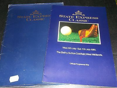 Programme State Express Classic The Belfry1981