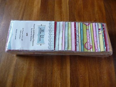 Quilting Fabric Jelly Log - Ella Blue Fabrics - Hearts & Happy Flowers X 22