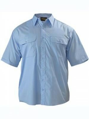 NEW Bisley Shirts  Mens Permanent Press Shirt Sky - in Sky - Large - Safety