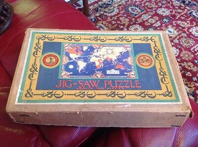 Vintage Chad Valley Wooden Jigsaw Puzzle. Cables And Wireless Ltd Picture.