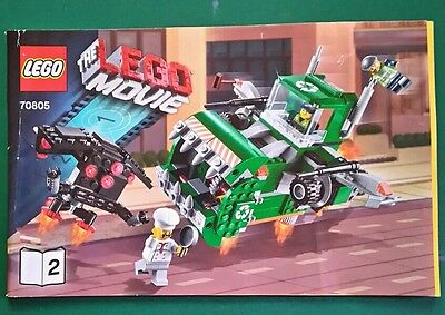 LEGO instructions only. THE MOVIE 70805 #2 only. Flying recycling muncher. Used