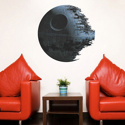 SUP Removable Death Star Wars Wall Stickers Art Vinyl Decal Kids Bedroom Decor