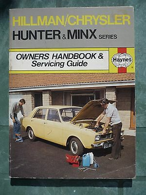 Hillman/chrysler Hunter & Minx Series Owner's Handbook & Servicing Guide