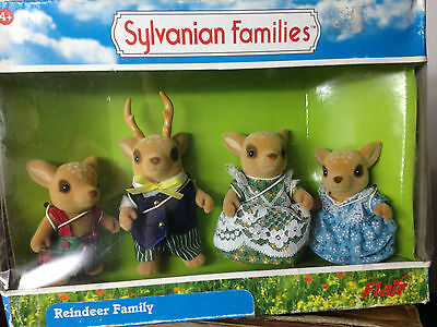 Sylvanian Families~ Deer Family Father Mother Son Sister x 4 play set Limited