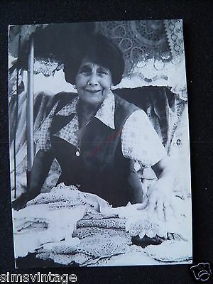 Unusual Weird D Postcard Brussells Bruxelles Market Lady on lace stall ? 12