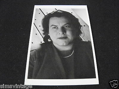 Unusual Weird B Postcard Nuriel Rukeyser New York 1946  by Bernice Abbott
