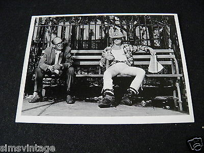 Unusual Weird Postcard  Old man and Builder on bench in park