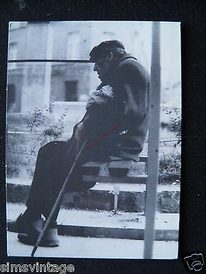 Unusual Weird D Postcard Brussells Bruxelles Market Old man with Cane 13