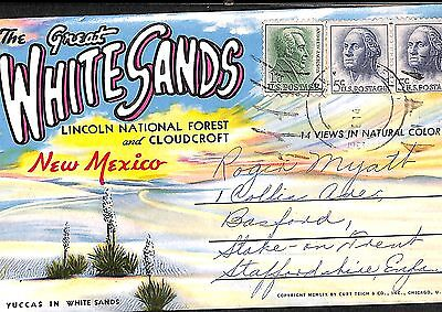 USA Postcar Letter Card Multiview White Sands New Mexico K0 064