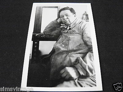 Unusual Weird B Postcard Diego Rivera Mexico City 1929 by James Abbie
