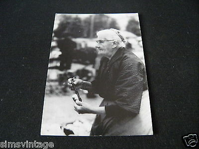 Unusual Weird B Postcard Old Women with pipe Brussells