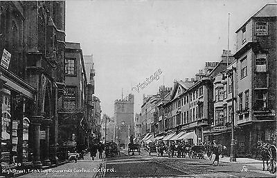 Oxfordshire C Postcard High Street Oxford Looking Towards Carfax   027