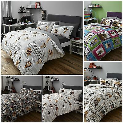 Fun Animal Themed Duvet / Quilt Cover Bedding Sets - Cats, Dogs, Monkeys & More!