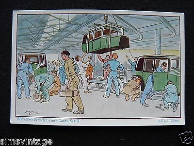 Unusual Weird D Bells New French Picture Cards Set II XVI. L'usine car factory 2