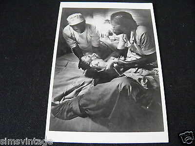 Unusual Weird Postcard Lady giving Birth Maude Callen Midwife South Carolina 195