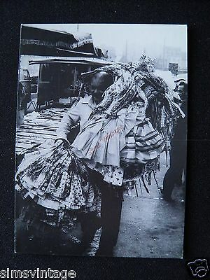 Unusual Weird D Postcard Brussells Bruxelles Market Women with dresses fabric 15