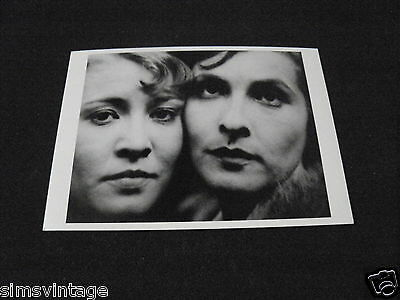 Unusual Weird B Postcard Sybille Binder & Frau Deoef Actresses Paris 1923