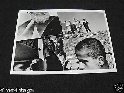 Unusual Weird B Postcard Pro Ayatollah Demonstrations Tabriz Iran 1980