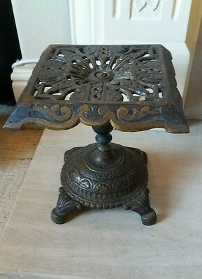 Trivet Fireplace Vintage Cast Iron Hearth Stand display stand shop cakes antique