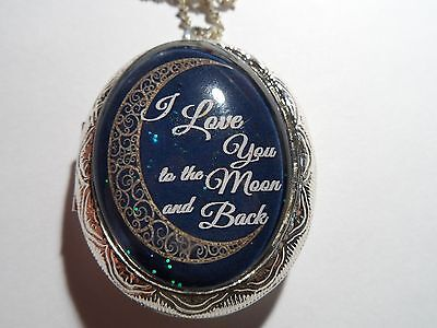 Fancy Moon-I Love You To The Moon And Back Locket